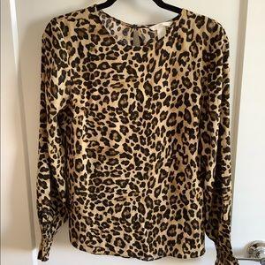 H&M Leopard Long Sleeve Top